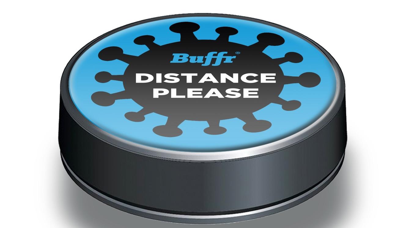 Buffr social distancing button