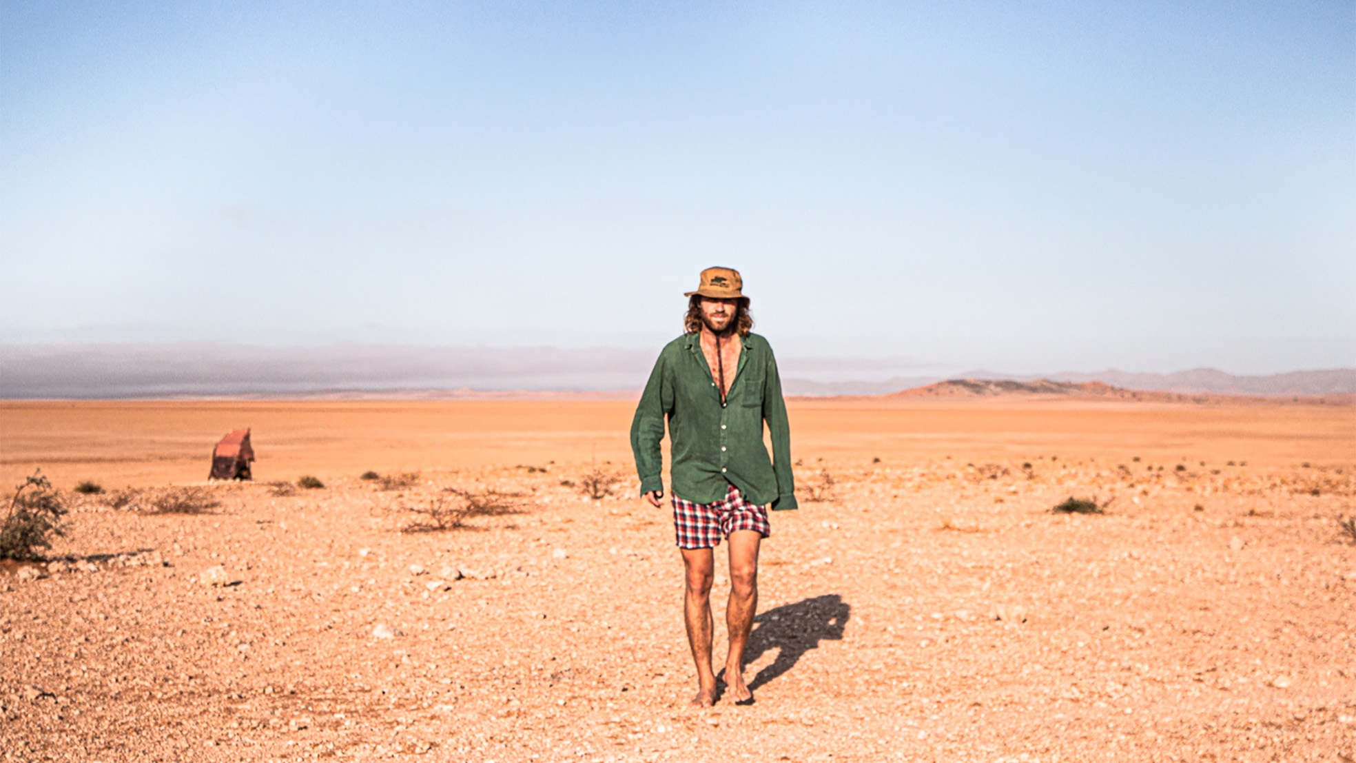 Charlie camping Namib