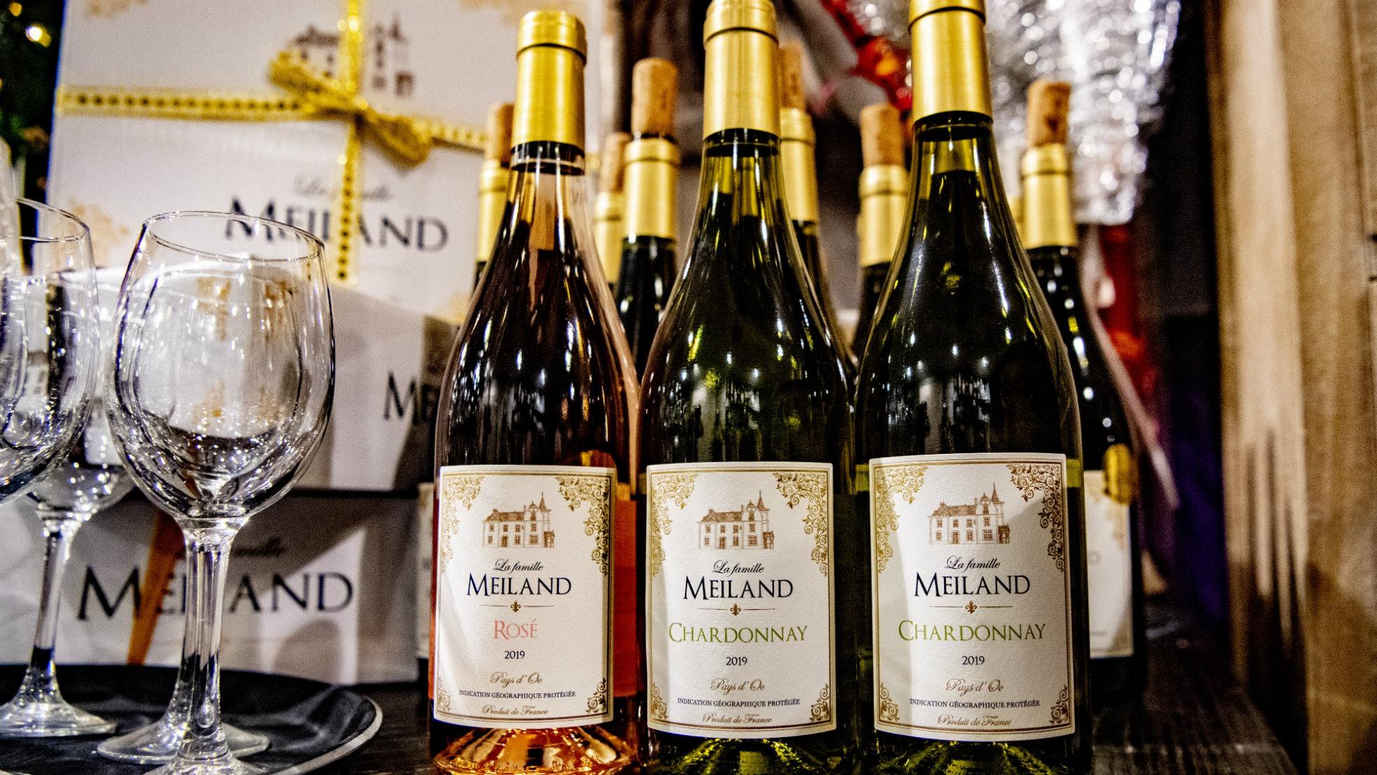 Meiland wijnen flessen