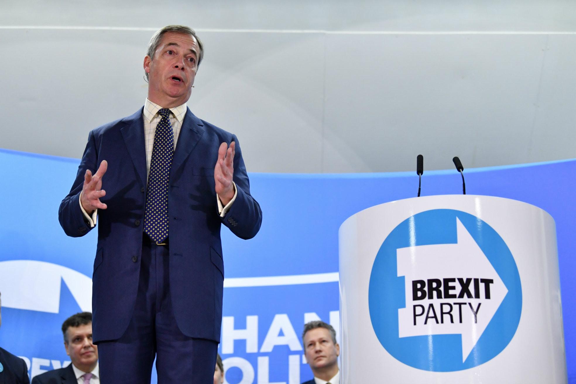Nigel Farage Brexitparty campagne