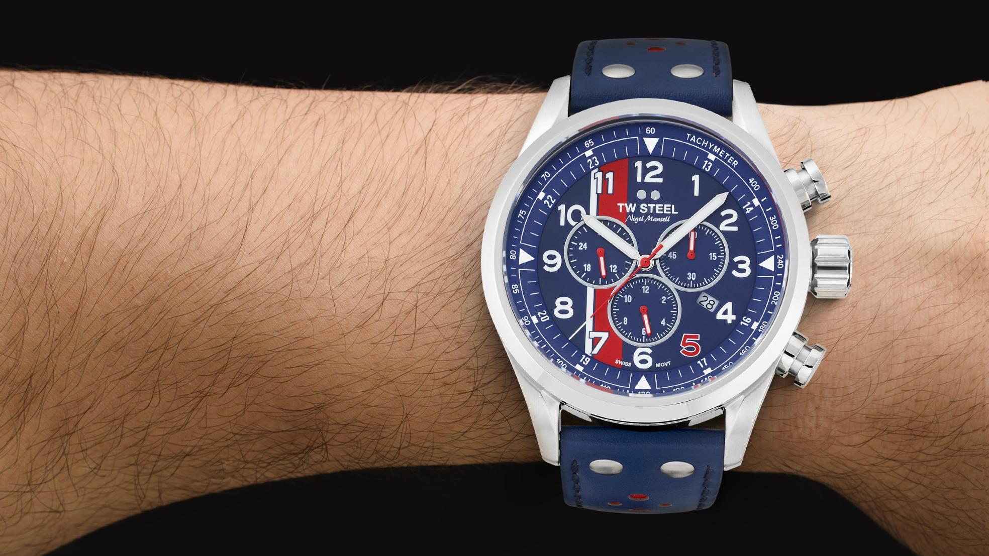 TW Steel horloge voorbeeld Nigel Mansell