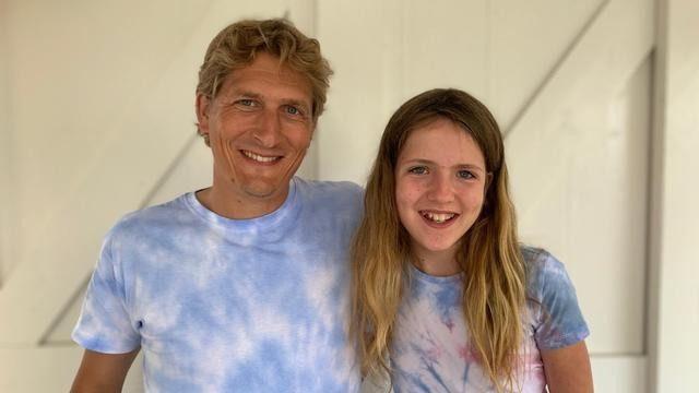 Vader en dochter Blüm