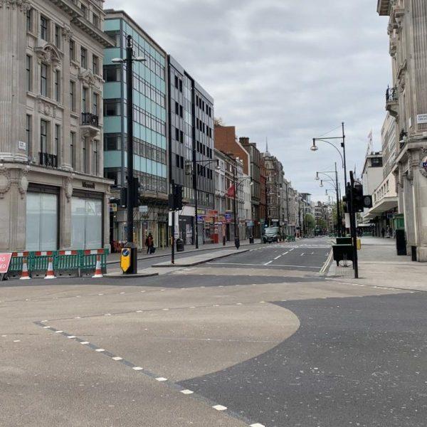 Londen lockdown coronavirus crisis