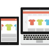 Vormgeving website webshop homepage