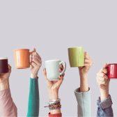 Mokken koffie koppen