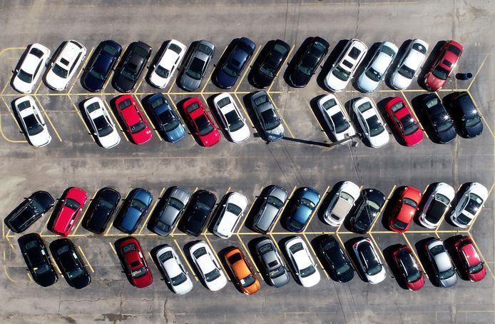 Auto parkeerplaats voorraad