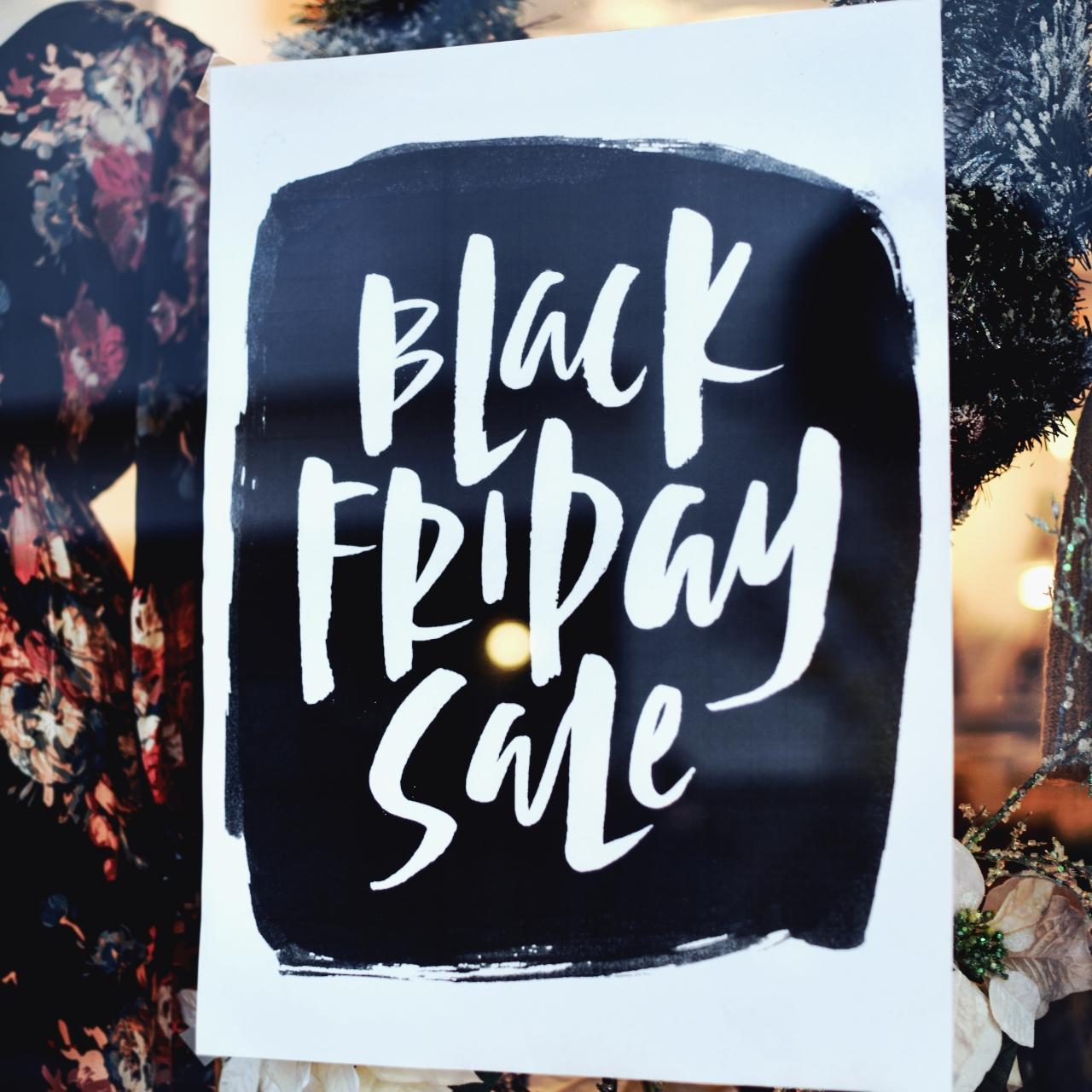 Black friday sale winkel etalage blog