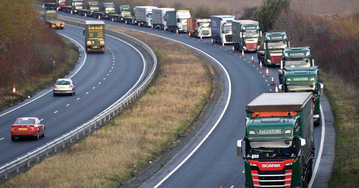 Brexit vrachtwagens file haven engeland