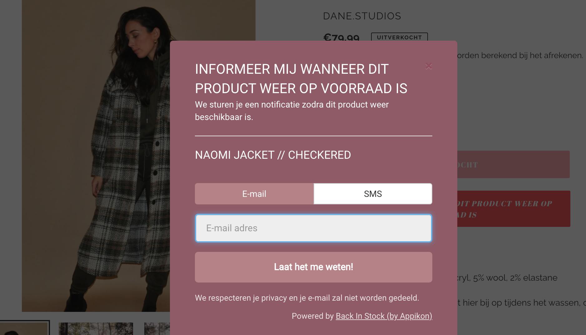 Danestudios webshop online ecommerce voorraad