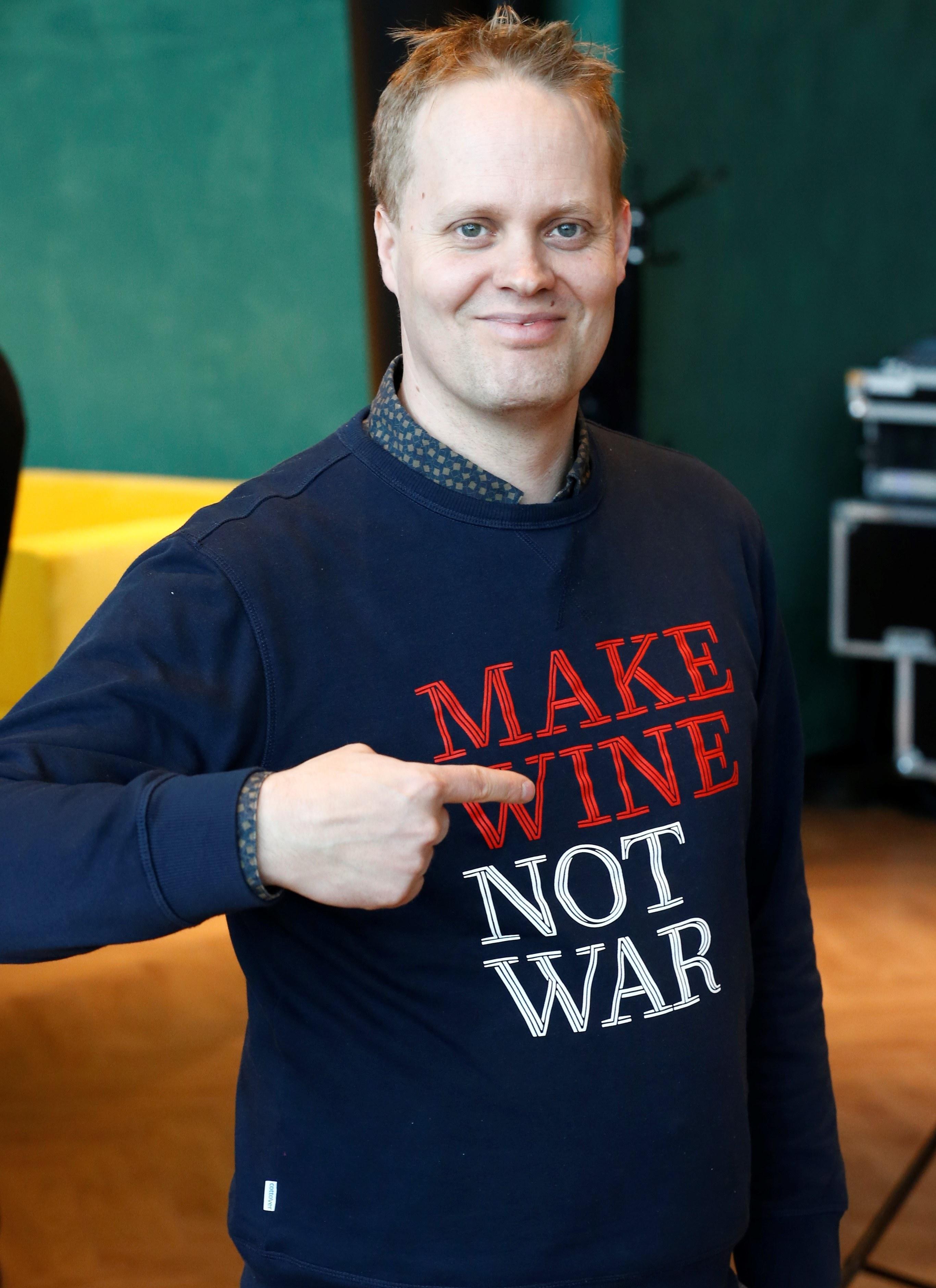 Derrick neleman make wine not war