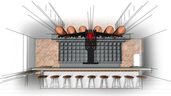 Bar menistenkerk ontwerptekening