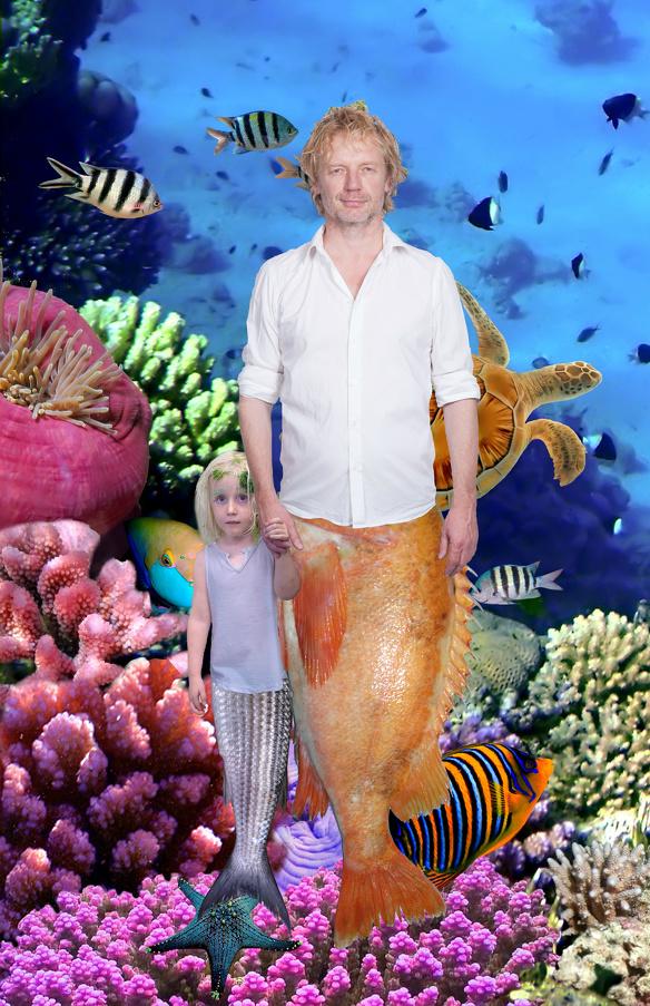 Bart van Olphen en dochter door kunstenaar Jan Hoek