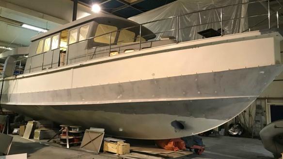 Boot nolimit in aanbouw