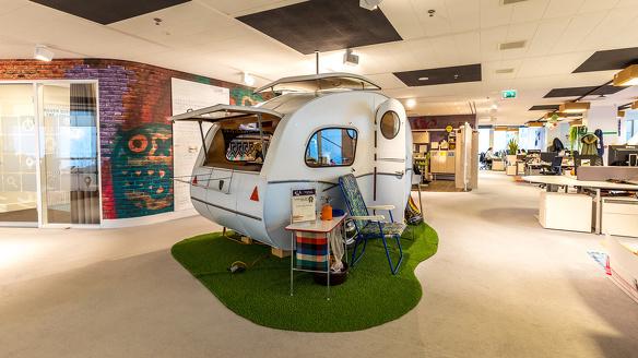 Google Hoofdkantoor caravan