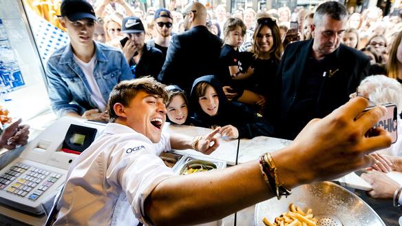 Lil Kleine friettent De Belg Amsterdam snackbar horeca ANP