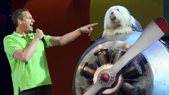 Samson en Gert op toneel