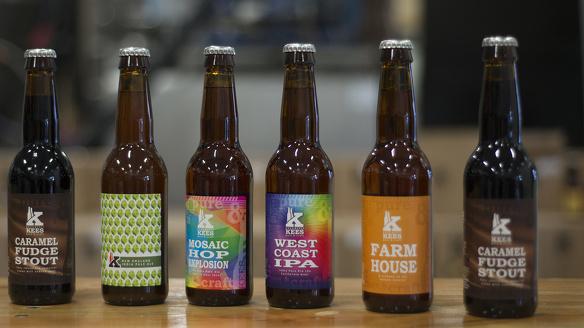 Verschillende biertjes lokaal gebrouwen