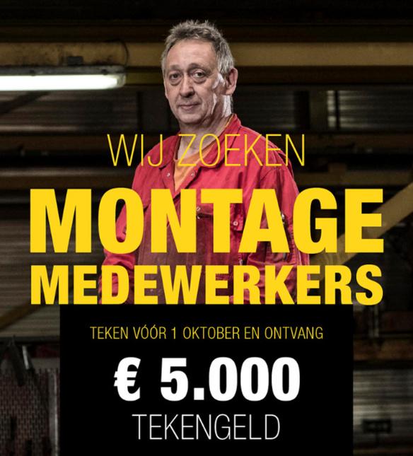 Hutten metaalbouw teken geld 5000 euro medewerkers