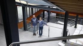 Hart van Grolle met intiatiefnemers Theo Kock
