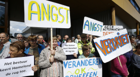 Protest Hamelanders Theo Kock
