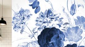 Nieuwe collectie fotobehang royal blue flowers