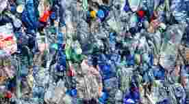 Recycling plastic flesjes flessen afval