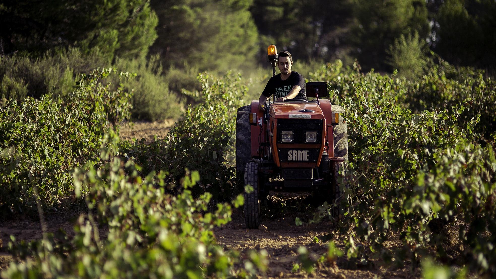 Neleman wijn land tractor
