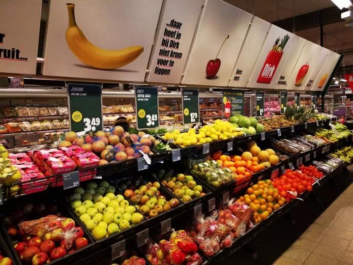 Supermarkt dirk van den broek fruit groenten