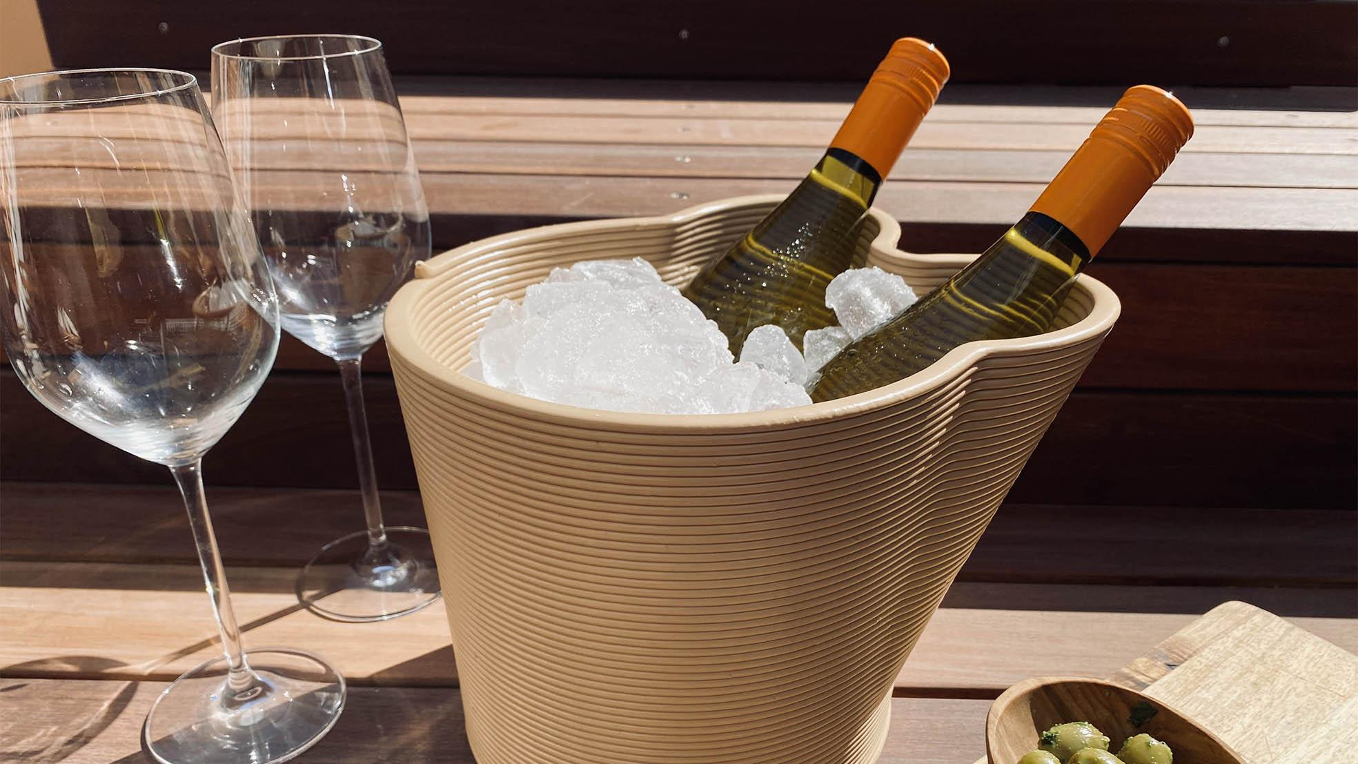Wijn koeler 3 D flessen