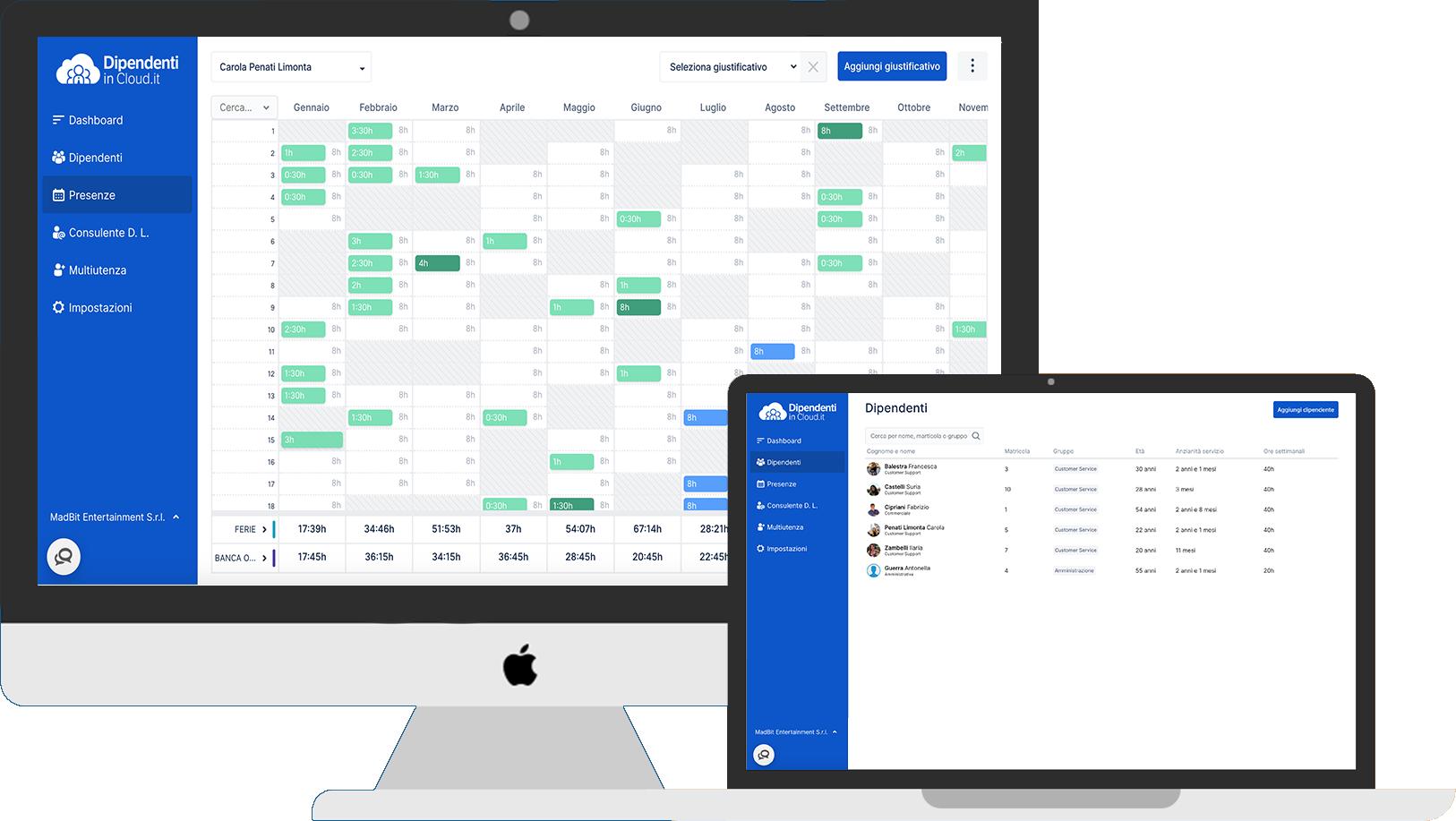 Calendario Presenze Excel.Programma Gestione Risorse Umane Tutte Le Funzionalita