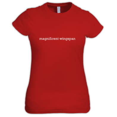 Magnificent Wingspan Lower Case Women's T-Shirt
