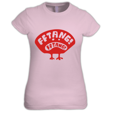 FFTANG! FFTANG! distressed bird women's tee