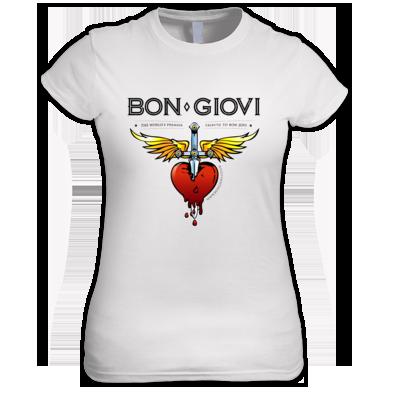 Bon Giovi Female T-Shirt (Black Print)