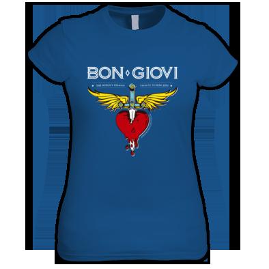 Bon Giovi Female T-Shirt (White Print)