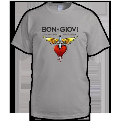 Bon Giovi Male T-Shirt (Black Print)
