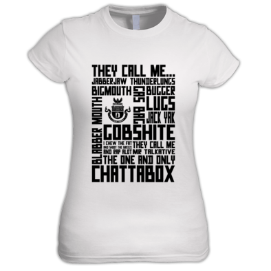 one colour chattabox tee
