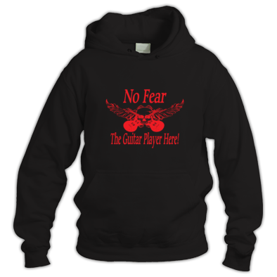 No Fear The Guitar Player Here Hoodie