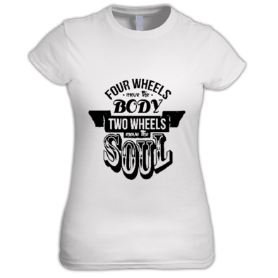 2 wheels move the soul T-Shirt woman