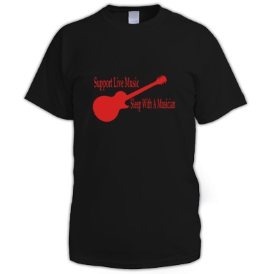Support live music sleep with a musician T-Shirt