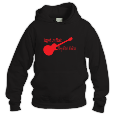 Support live music sleep with a musician Hoodie