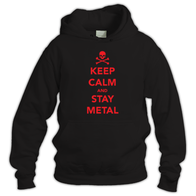 Keep calm and stay metal Hoodie