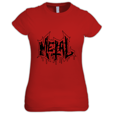 Metal logo woman  t-shirt