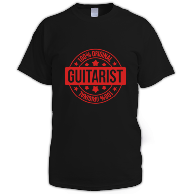 100% original guitarist T-Shirt