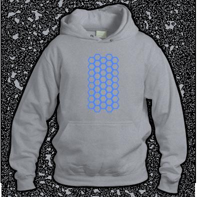 Blue on Grey