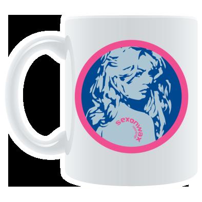 Sexonwax girl with tattoo mug
