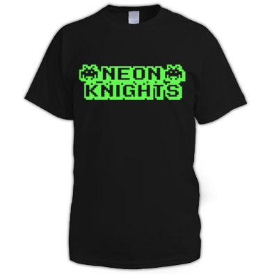Neon Knights Space Invaders