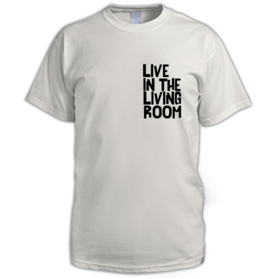 Live In The Living Room Logo Standard Tee Mens