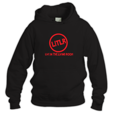 Live In The Living Room Logo Circle And Writing Hoodie