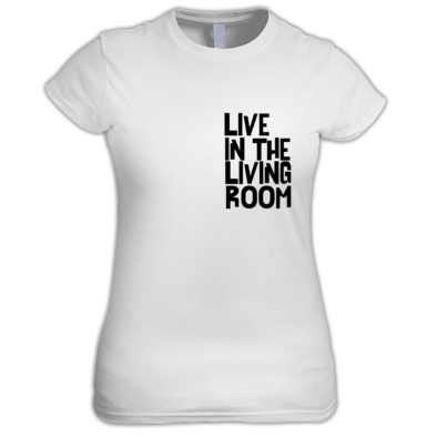 Live In The Living Room Logo Standard Tee Womens