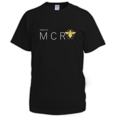 MADE IN MANCHESTER (Black T Shirt)